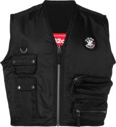 032c Black Cropped Work Shop Patch Cargo Vest