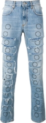 1017 Alyx 9sm Allover Ripped Blue Jeans