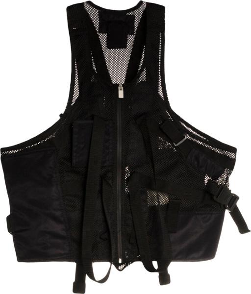 1017 Alyx 9sm Black Mesh Utility Vest