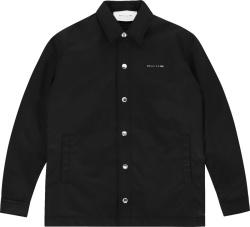 1017 Alyx 9sm Black Nylon Coaches Jacket