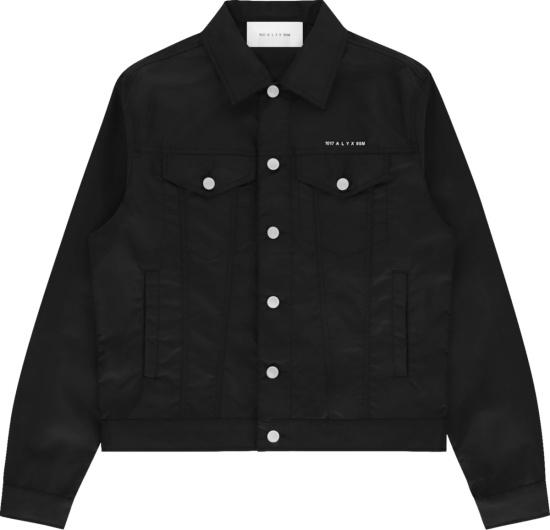 1017 Alyx 9sm Black Nylon Trucker Jacket