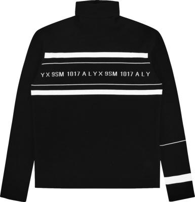 1017 Alyx 9sm Black White Logo Turtleneck