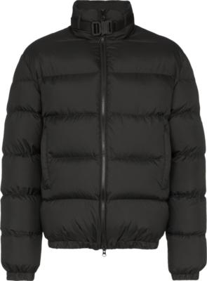 1017 Alyx 9sm Buckled Collar Black Puffer Jacket