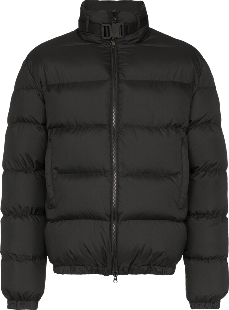 1017 Alyx 9sm Buckled Collar Black Puffer Jacket