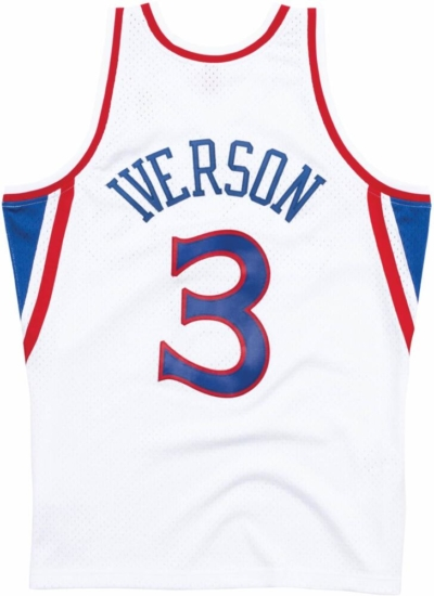 competitive price 46b4a 217b1 Mitchell & Ness Philadelphia 76ers 1996 White Allen Iverson ...