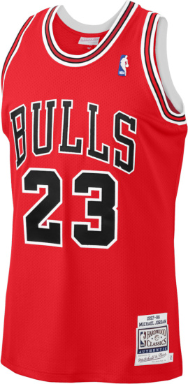 1997 98 Chicago Bulls 23 Michael Jordan Red Jersey