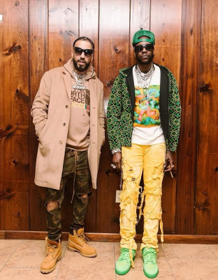 2 Chainz And French Montana Wearing Celine Louis Vuitton Timberland And Celine Outfit
