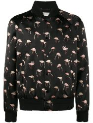 2 Chainz Black Bomber Jacket With Flamingos