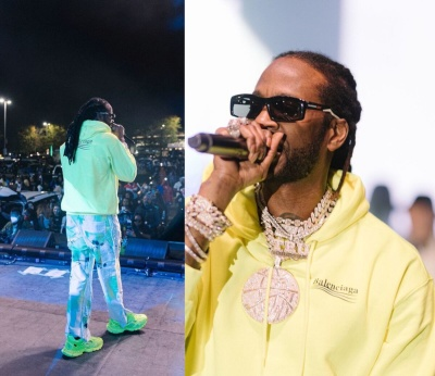 2 Chainz Performing In A Balenciaga Hoodie Sneakers And Sunglasses