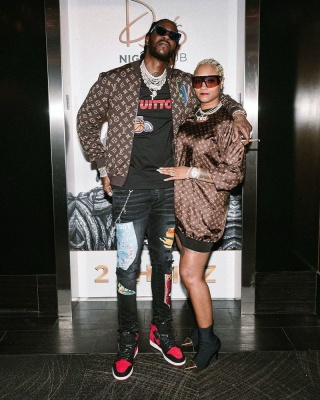 2 Chainz Wearing A Louis Vuitton X Nba Jacket And T Shirt With Amiri Jeans