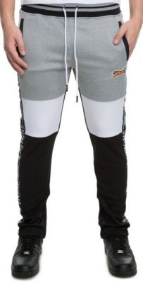 2 Chainz Wearing Grey Black And White Le Tigre Sweatpants