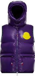 2 Moncler 1952 Purple Lorent Puffer Vest