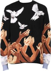 3paradis Open Hand Dove Jacquard Black Sweater