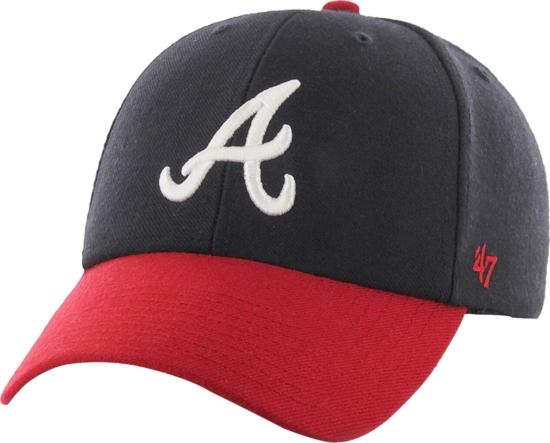 47 Brand Atlanda Braves Red And Navy Mvp Hat