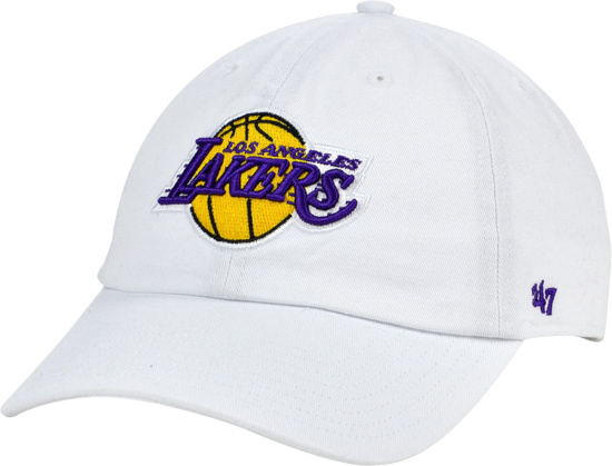 47 Brand Los Angeles Lakers White Clean Up Hat
