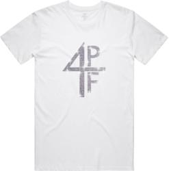 4PF Rhine Stone Logo White T-Shirt