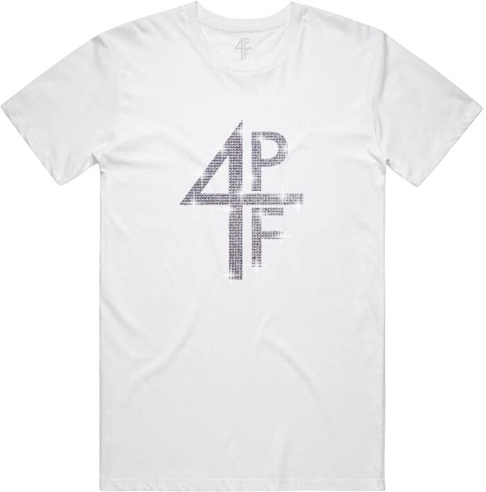 4pf Rhinestone White Merch T Shirt