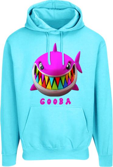 6ix9ine Light Blue Shark Print Hoodie