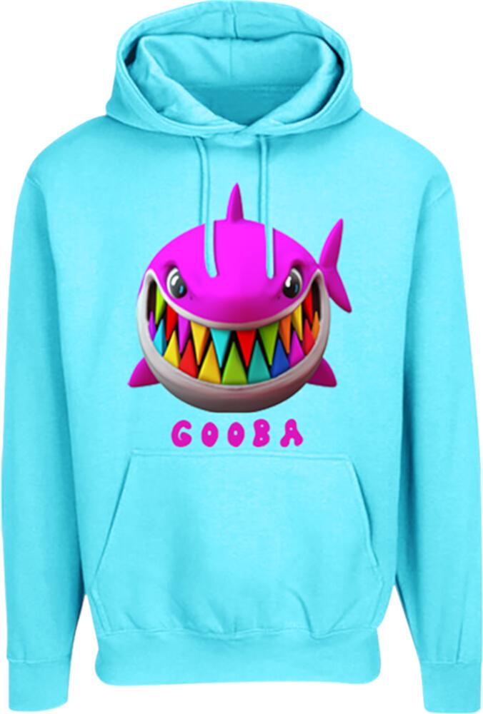 6ix9ine Blue Shark Print Gooba Hoodie Incorporated Style
