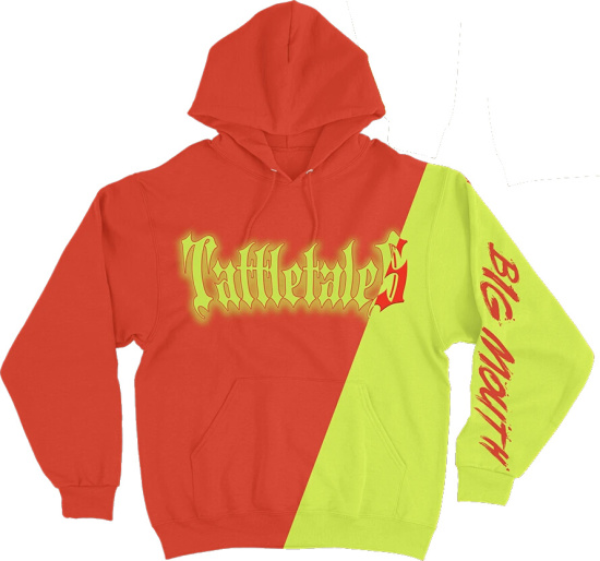 6ix9ine Red And Yellow Split Tattletales Hoodie