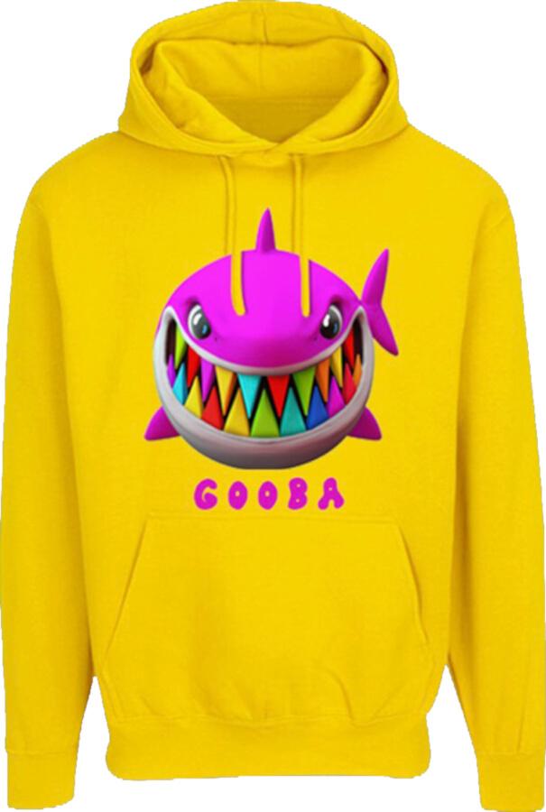 6ix9ine Yellow Shark Print Gooba Hoodie Incorporated Style