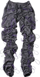 99%is Grey And Purple Bungee Pants