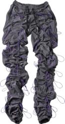 Grey & Purple Bungee Cord Pants