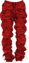 Allover Bungee Cord Red Pants