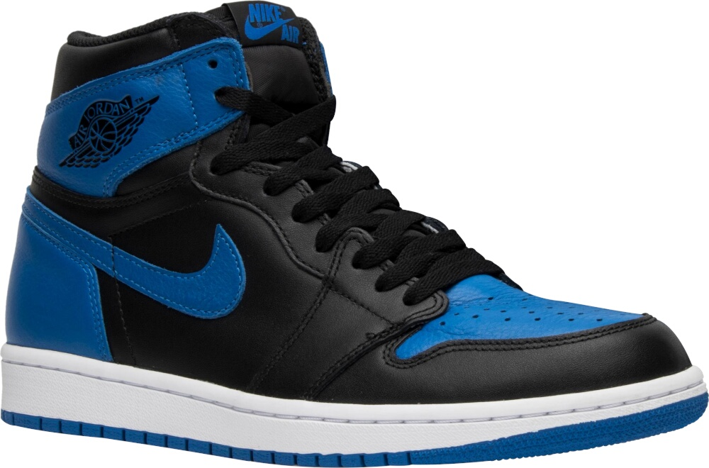 Air Jordan 1 Retro High Black And Blue
