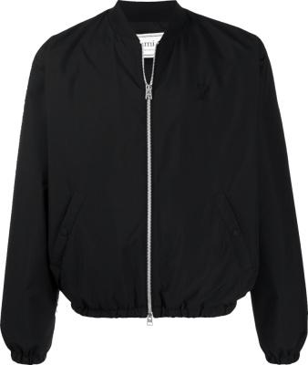 Ami De Coeur Black Bomber Jacket