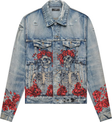 Amiri X Grateful Dead Indigo Skeleton Denim Jacket