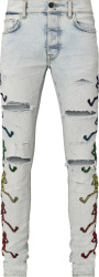 Amiri X Grateful Dead Ski Indigo Dancing Skeleton Jeans