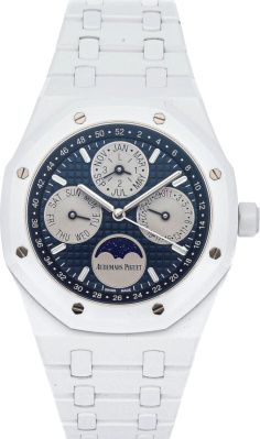 Audemars Piguet Royal Oak Perpetual Calendar In White Ceramic