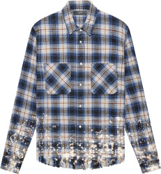 Blue Flannel Bleached Shirt