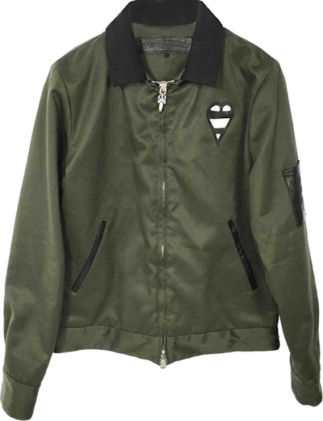 Chrome Hearts Dark Green 'smile' Bomber Jacket