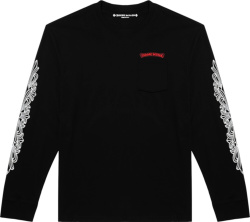 Chrome Hearts X Matty Boy Black Long Sleeve Chomper T Shrit