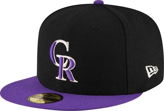 Colorado Rockies New Era Authentic On Field 59fifty Black Purple
