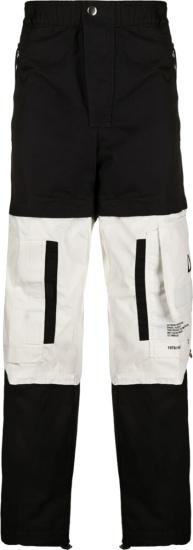 Diesel Black & White Two Tone Cargo Pants