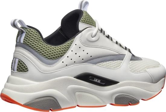 Dior White, Khaki, & Grey B22 Sneakers