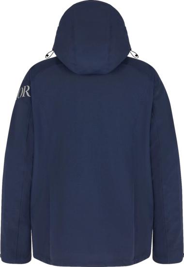 Dior X Descente Navy Hooded Parka
