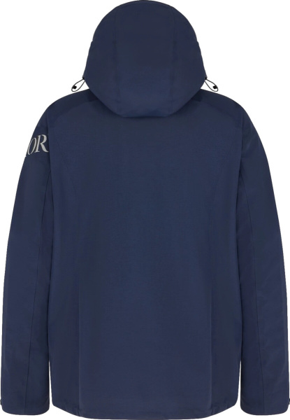 Dior X Descente Navy Hooded Parka