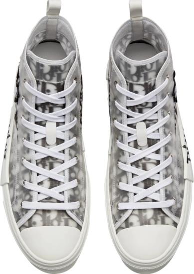 Dior X Shawn White & Black Oblique High Top B23 Sneakers