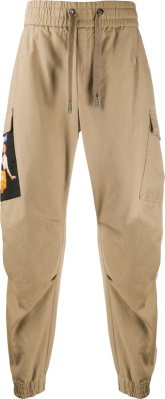 Dolce Gabbana Khaki & 'sneak Peek' Patch Cargo Joggers