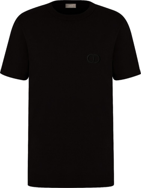 Embroidered 'cd' Logo Black T Shirt