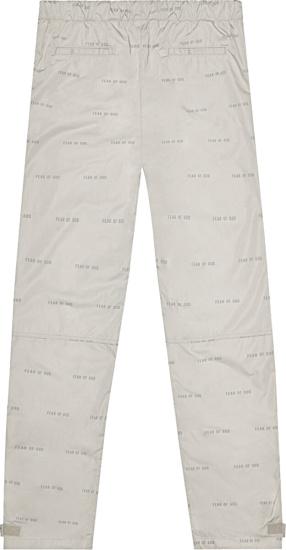 Fear Of God All Over Print Baggy Nylon Pants Bone