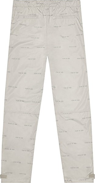 Fear Of God All Over Print Baggy Nylon Pants Bone