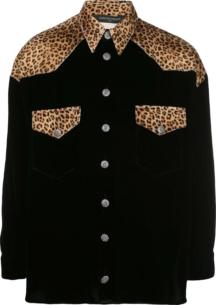 GarÇons InfidÈles Crushed Black Velvet Shirt