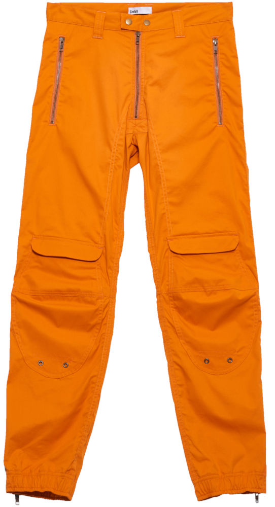 Gmbh Orange Paneled Cargo Pants Worn By Lil Uzi Vert