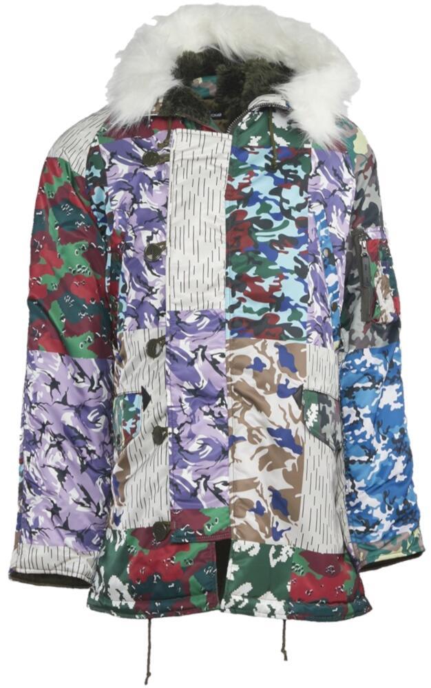 Gosha Rubchinskiy Multicolor Camo Print Coat