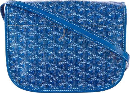 Goyard Belvedere Messenger Goyardine Pm Blue